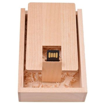 Natural Maple Custom wooden Bank Card Credit Card USB 2.0 Version Memory flash stick pen drive