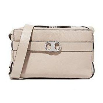 Tory Burch Women's Gemini Leather Camera Bag, French Gray, One Size