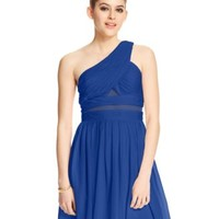 Hailey Logan by Adrianna Papell Juniors' One-Shoulder Illusion-Panel Dress | macys.com
