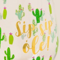 Sip Sip Ole Cactus Stemless Wine Glass