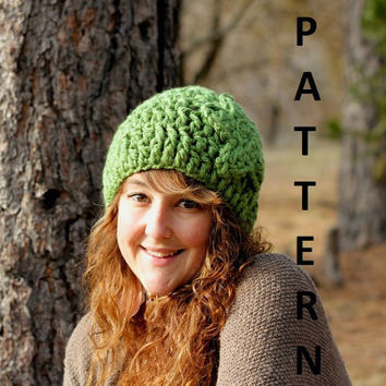 Instant Download Crochet Pattern - Flower Beanie Hat Pattern with Photos PDF