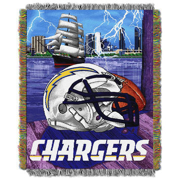 San Diego Chargers NFL Woven Tapestry Throw (Home Field Advantage) (48x60)