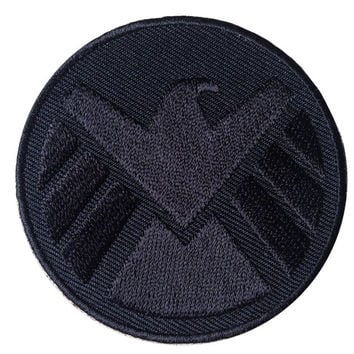 "Velcro Avengers logo Eagle BLACK iron man shield Cap backpack 2.5"" Patch"