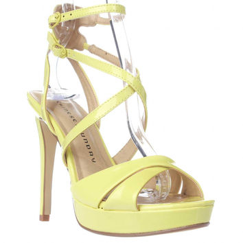 Chinese Laundry Highlight Strappy Platform Dress Sandals - Lemon