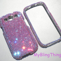 Stunning Iridescent Pink ROSE AB Crystal Diamond Rhinestone Bling Case for Samsung Galaxy S 3 III handmade with Swarovski Elements