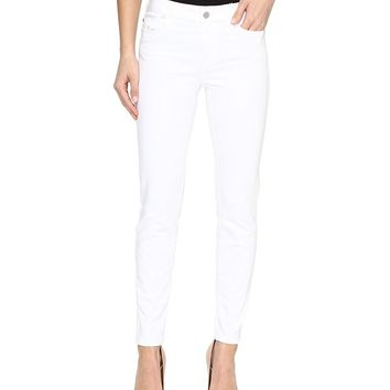 Liverpool Womens Penny Ankle Skinny Vintage Slub Stretch Twill In Bright White