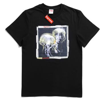 Supreme 18ss Jellyfish Tee Black T-shirt - Best Online Sale