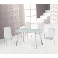 J&M Furniture B24 5 Piece Dining Room Set w/ White Chairs