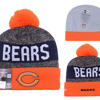 Chicago Bears Warm Knitted Beanies