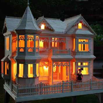 Victorian Barbie Doll House Woodworking Plans to make-your-own dollhouse **Plans -No Wood Included
