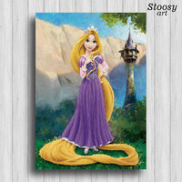 disney princess rapunzel print tangled poster girl room