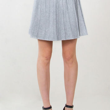 Sugar Lips School's In Session Grey Pleated Skirt