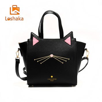 Cat Tote Messenger Bag