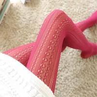 Fashion Hollow Mesh Lace Vertical Strips Pantyhose Sexy Women Chiffon Tights For Female Spring Autumn