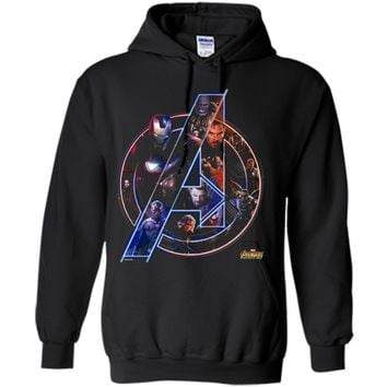 Marvel Avengers Infinity War Neon Team Graphic  Pullover Hoodie 8 oz