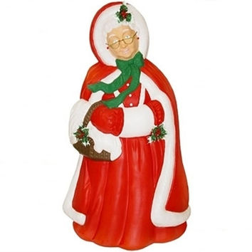 Mrs Santa Claus , Lighted, Light Up Outdoor Yard Christmas Decoration Plastic