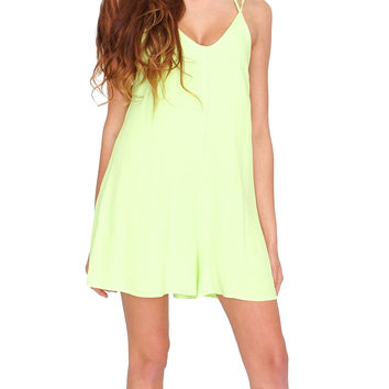 Morning Light Romper - Lemon Yellow