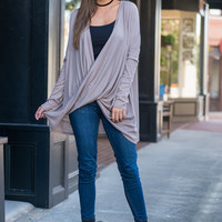 One Way Ticket Top, Taupe