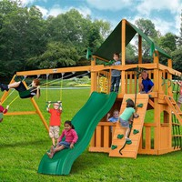 Gorilla Playsets Chateau Clubhouse Supreme CG Wooden Swing Set
