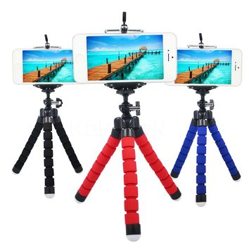 3colors Mini Sponge Octopus Tripod Bracket Stand Mount Monopod  Phone Holder For Mobile Phone for Samsung Camera High Quality