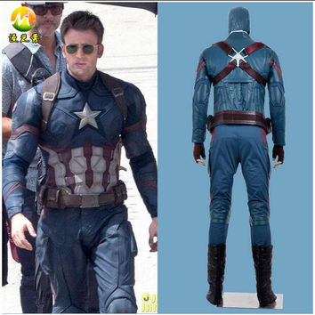 HOT Movie Avengers Captain America Cosplay Full Set Clothing Jacket And Trousers Collocation Helmet Accessories