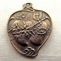 Bronze Immaculate & Sacred Heart medal Two by VirgoPotensSupplies