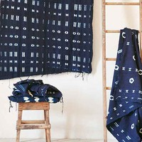 Traditional Indigo Dyed Mudcloth Tapestry