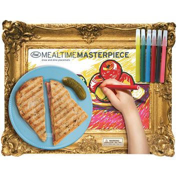 Mealtime Masterpiece Kid's Place Mat Drawing Pad