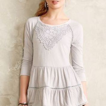 Crochet Tiered Top by Meadow Rue Grey