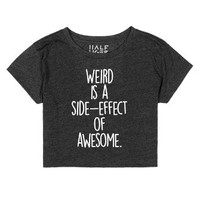 Weird Awesome-Unisex Heather Onyx T-Shirt