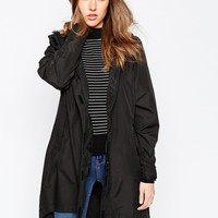 Brave Soul Hooded Rain Trench