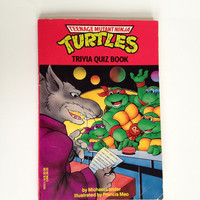 Vintage Teenage Mutant Ninja Turtles Trivia Quiz Book