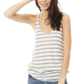 Raw-Edge Racerback Tank