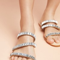 Anthropologie Sparkling Slide Sandals