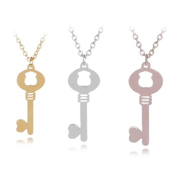 1Pcs Baby Love Key Necklace Jewellery -Choose your color Cute Baby Bear Key Necklace Pendant Stainless Steel Pendant
