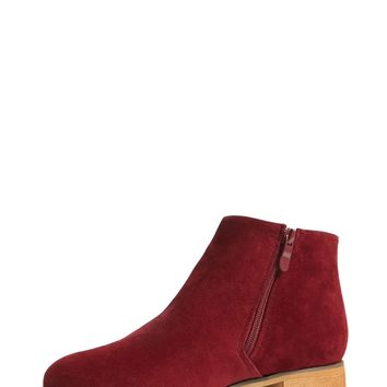 Tassel Faux Suede Ankle Boots