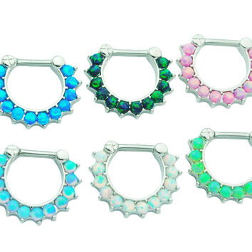 Choose 2 Fire Opal Septum Clickers