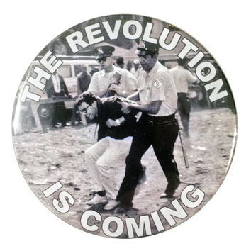 "2016 Bernie Sanders 'The Revolution is Coming' 3"" Pinback Button"