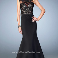 Black Mermaid Style Long La Femme Prom Dress