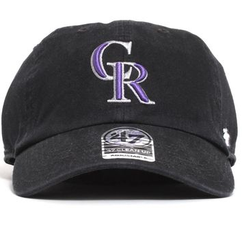 Colorado Rockies Clean Up Hat Black