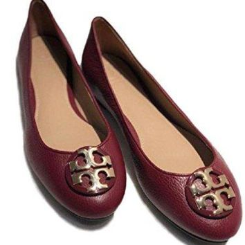 Tory Burch Agate/gold M Claire Ballet Tumbled Leather/flats
