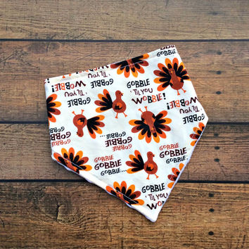 thanksgiving baby bibs, baby boy bandana bib, baby girl bibdana, holiday bibs, fall baby shower gift, fall baby clothes, turkey bibs, drool