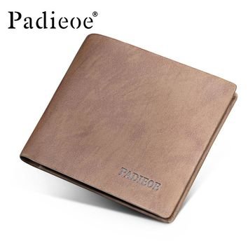 Genuine Leather Soft Wallet Men Business Wallet Casual Card Holder Vintage Fashion Purse Male