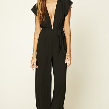 Contemporary Plunging Chiffon Jumpsuit