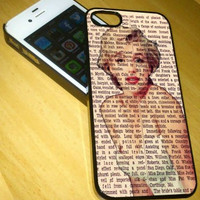 marlyn monroe vintage newspaper iPhone Case And Samsung Galaxy Case