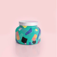 Green Print Ceramic Jar- Coconut Santal