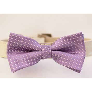 Lilac Wedding dog collar, Purple Dog Bow Tie, Purple Wedding accessory