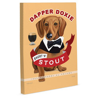 One Kings Lane - Prints for the Pet Lover - Dapper Doxie Canvas