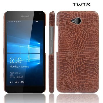 Leather Case for Microsoft Nokia Lumia 650 LTE RM-1152 RM-1154 Phone Bumper Fitted Case for Lumia650 RM 1152 1154 Hard PC Cover