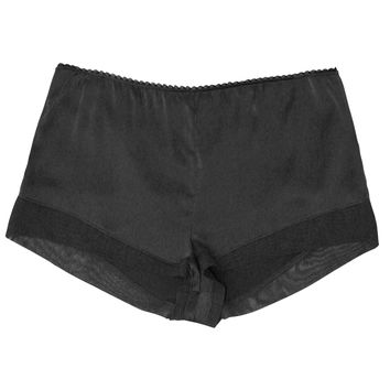 Tulle Paneled Shorts in Black
